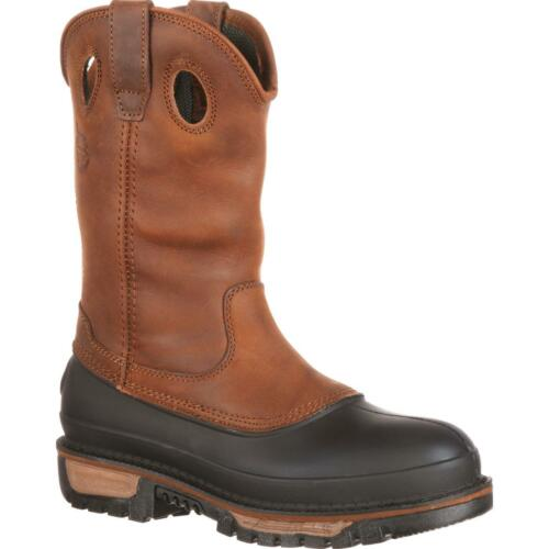 NEW GEORGIA MUDDOG WELLINGTON PULL-ON WORK BOOTS G4434 ALL SIZES