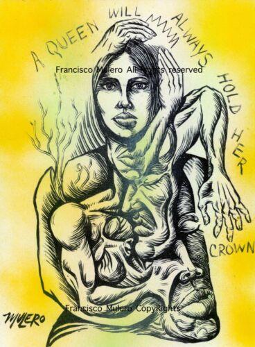 Francisco Mulero Art Print Queen Signed// Puerto Rico //Contemporary art