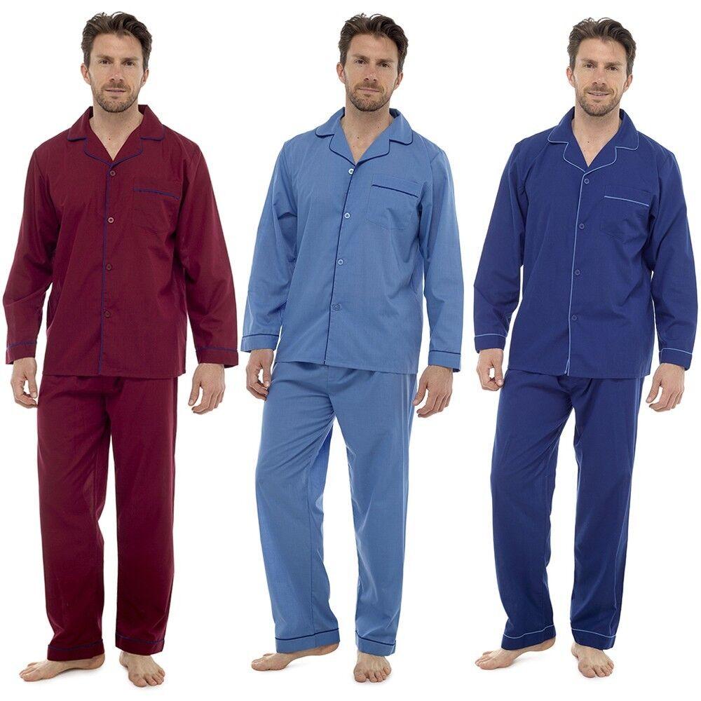Nouveau homme plain poly coton traditionnel traditionnel traditionnel pyjama set pyjamas tailles m l xl xxl HT325A d894c9