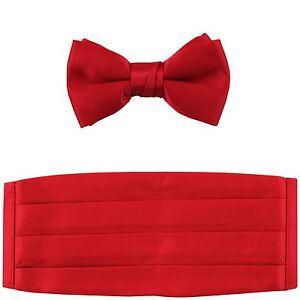 NEW in box 100/% polyester boys kids Cummerbund /& bowtie set formal Pink