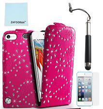 Funda de cuero con cierre Magnético Brillante Ostentosa de para la generación de 5th 6th Apple iPod Touch