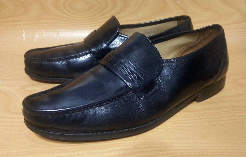 Bostonian Stockbridge Size 12 M Black Leather Loafers Mens Dress shoes