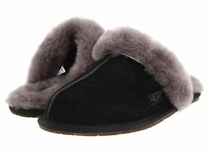 34bb1e0f269 Details about Women's Shoes UGG SCUFFETTE II Slippers 5661 BLACK GREY *New*