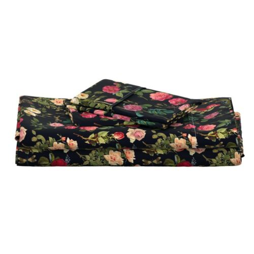 Floral Flowers Dragonfly Dragonflies 100/% Cotton Sateen Sheet Set by Roostery