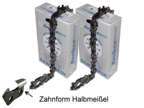 Stihl 024 MS240 MS 240 325 1,6  Kette 2Stk Halbmeißel Sägeketten 37cm passend f