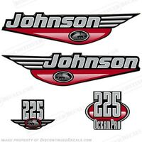 Johnson 1999-2000 Oceanpro 225hp Outboard Decal Kit - You Choose Color Decals