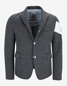 Image is loading New-Moncler-Gamme-Bleu-Grey-Wool-Blazer-Style-