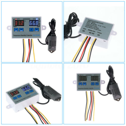 2200W Digital Thermostat Control Switch Temperature Humidity Controller 1m Probe