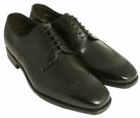 Gentlemans' Lace Up Derby Shoes Barker Russell Black Uk Size 7.5 Fitting