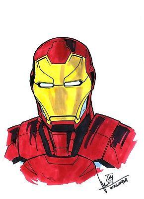Iron Man Dessin Original Art Sketch Par J H Wzgarda Ebay