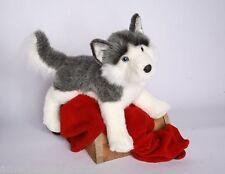 "NADIA Husky stuffed animal plush 20"" DOG by Douglas Cuddle Toys gray white"