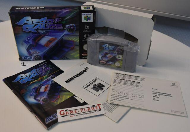 AeroGauge OVP (Nintendo 64, 1998) N64 NEU  NEW BOX Rennen 2 Player ASCII