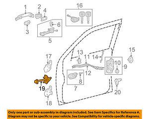 toyota oem 05 15 tacoma front door check arm 6861004021 ebay rh ebay com toyota tacoma front bumper diagram toyota tacoma front differential diagram