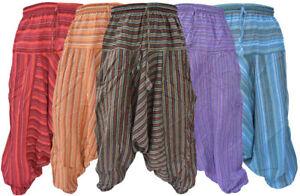 algodon-claro-Multicolor-Hombre-Pantalones-Informales-Verano-Rayas-Aladdin-Hippy