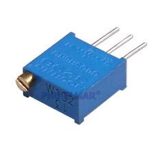 5 pezzi 10K Ohm Trimmer 3296W Multigiro Potenziometro Ω L50 64W Potentiometer