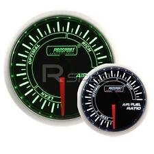 Prosport 52mm Super Smoked Green and White Air Fuel Ratio AFR Gauge