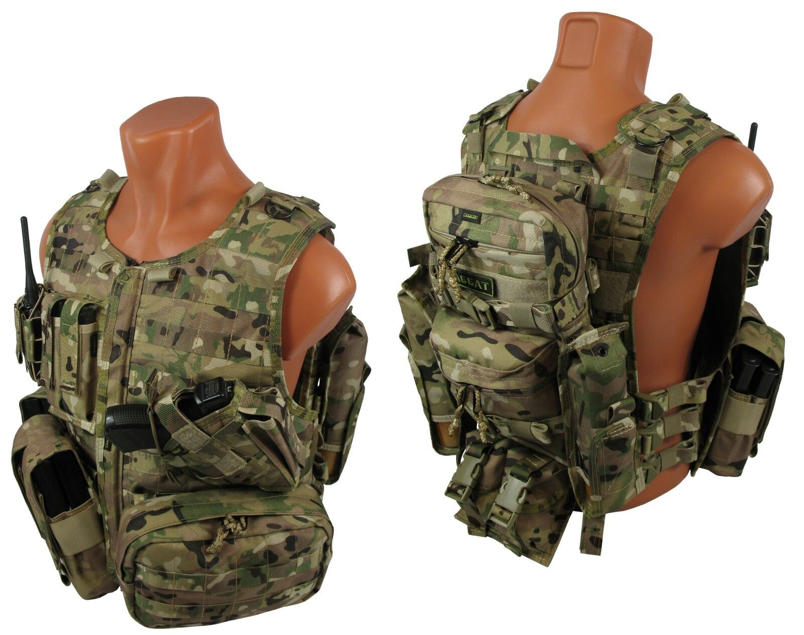 Molle paintball milsim vest Airsoft Modular chest  rig kit №56 multicam  free delivery and returns