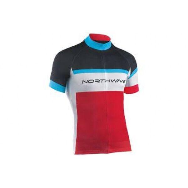 Camiseta Manga Corta NORTHWAVE LOGO rojo NEGRO rojo JERSEY rojo negro azul