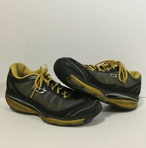 Skechers-Shape-Ups-52080-Black-amp-Yellow-Men-s-Size-12-Walking-Toning-Shoes