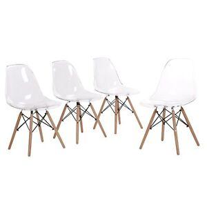 Lot De 6 Chaise Transparente Scandinave Salle