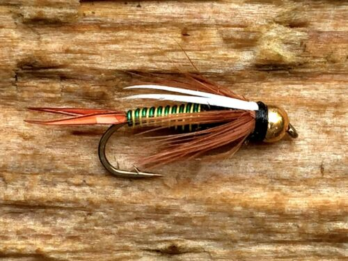 6 flies Bead Head Prince Hotwire Fly Fishing Flies Bass, Bream, Trout, Perch