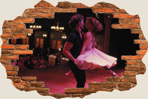 3D Hole in Wall Dirty Dancing View Stickers Decal Mural 1085
