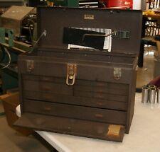 Vintage Kennedy 520 Metal Machinist Toolbox 7 Drawer Tool Chest No Key L 3739