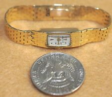 Vintage Tiffany 14k ladies gold watch with Pery Swiss 17 jewel movement runs