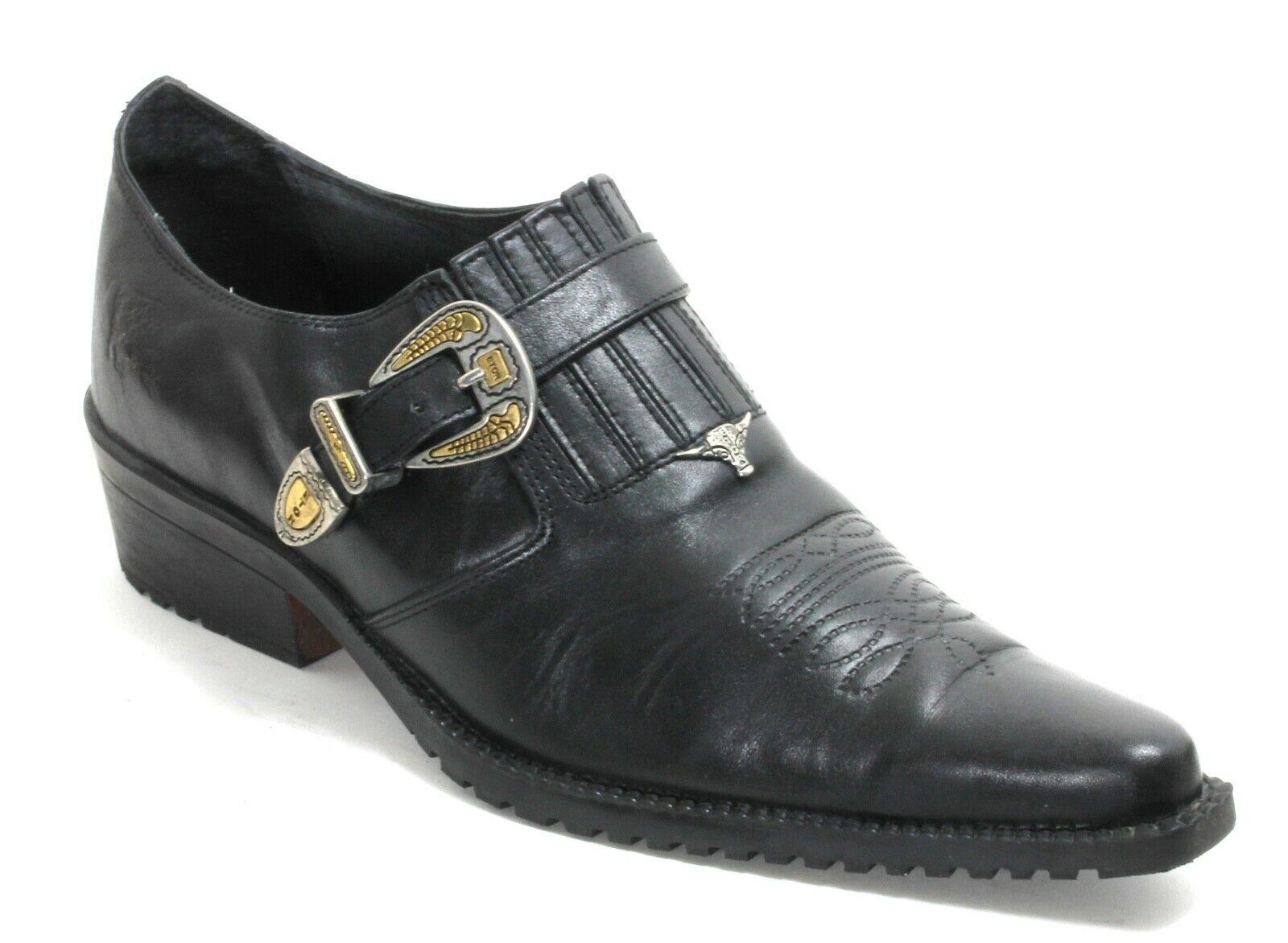 Westernschuhe Catalan Style Stiefeletten Leder Metallic Schnalle ETOR 44