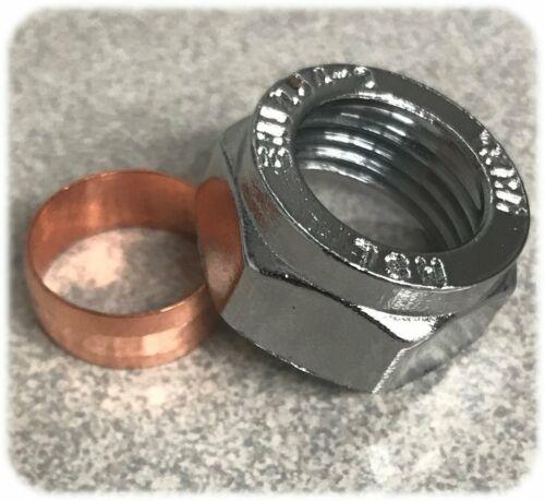 1 x 15mm CROMATA COMPRESSIONE DADO /& Rame Oliva