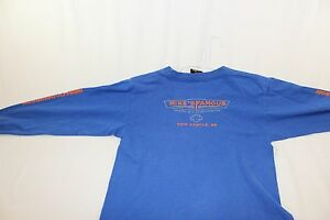 youth large mike's famous harley-davidson t shirt new castle