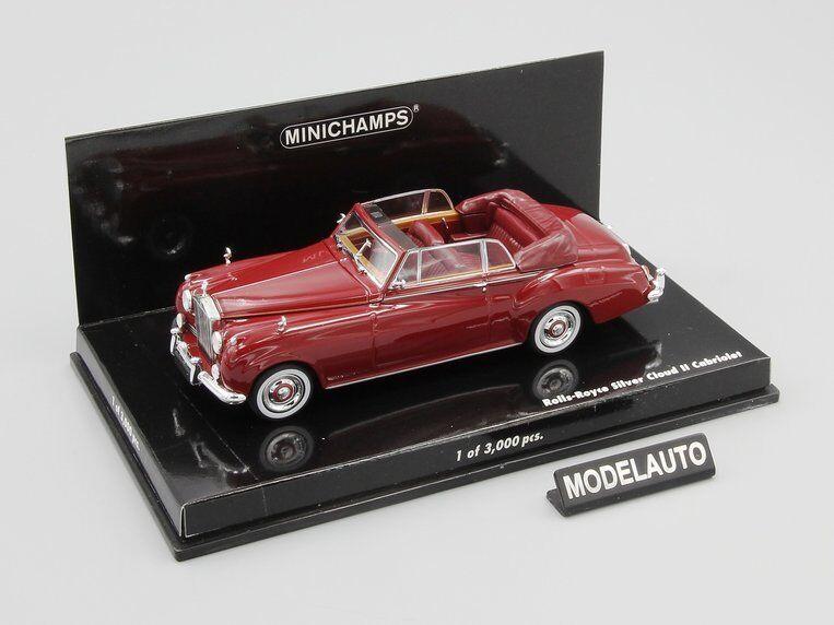 Minichamps 1 43 Rolls Royce plata Cloud II Cabriolet 1960 ROJO L.E. 3000 PCS.