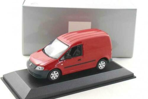 red Minichamps 1:43 VW Caddy Van 2005