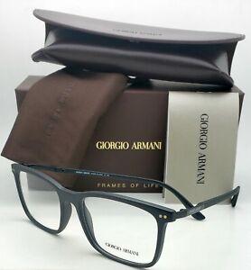 New-GIORGIO-ARMANI-Eyeglasses-AR-7122-5042-54-17-Thin-amp-Light-Matte-Black-Frames