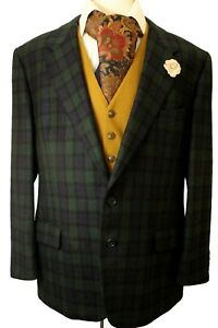 Austin Reed 44r Scottish Wool Tartan Jacket Lovely Tartan Weave Ebay