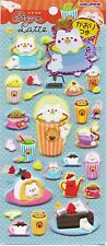 Cute Kawaii Bear Latte Puffy Japanese Foam Stickers Adorable Craft Stationery