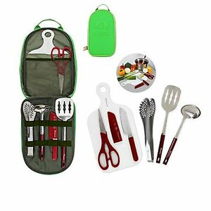 Portable camping outdoor kitchen tools set cookware for Kitchen set portable