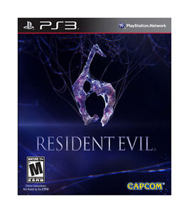 RESIDENT-EVIL-6-SONY-PlayStation-3-PS3-GAME-DISC-amp-CASE-CAPCOM