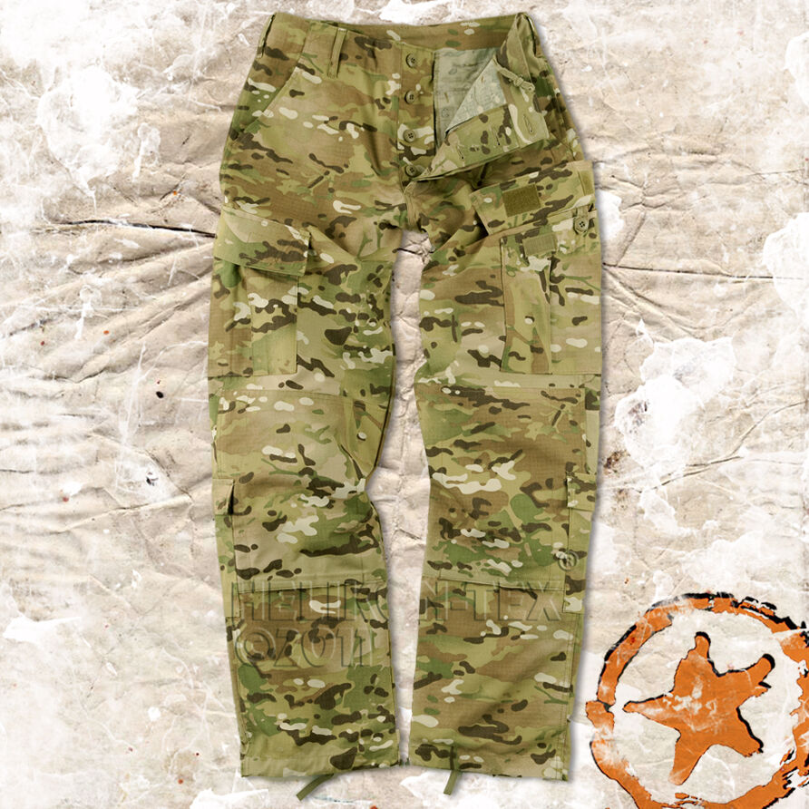 HELIKON ARMY COMBAT (ACU) TROUSERS, MILITARY CARGO PANTS MULTICAM MTP PATTERN