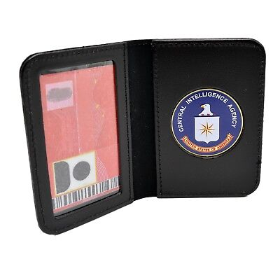 Round Badge US Deputy Marshal Police Badge Case ID Holder Leather Perfect Fit