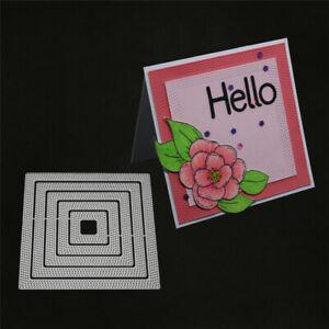 Stanzschablone-Punkt-Quadrat-Weihnachten-Geburtstag-Hochzeit-Karte-Album-Deko