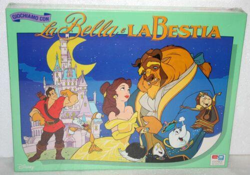 LA BELLA E LA BESTIA DISNEY GIOCO IN SCATOLA BOARD GAME NUOVO SIGILLATO EG 1992