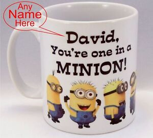 Funny-Personalised-Minion-Mug-coffee-tea-cup-Birthday-gift-034-ONE-IN-A-MINION-034