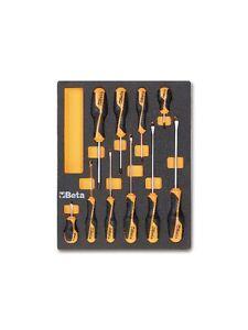 beta tools 2450m208 10pc screwdriver set in foam tray ebay. Black Bedroom Furniture Sets. Home Design Ideas