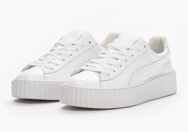 PUMA RIHANNA GLO WHITE PATENT LEATHER CREEPERS FENTY SIZES UK 7 & 8 NEW