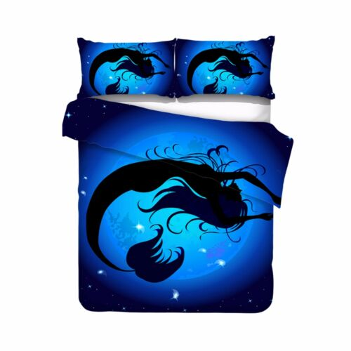 3D Beautiful Mermaid Blue Bedding Set Duvet Cover Comforter Cover Pillow Case