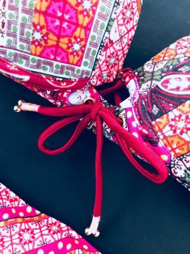 Cheeky Halter Secret hipster ~ Fabulous ~ 34b Bikini Victoria's xs patchwork ~ Top Nwt fYq1vn