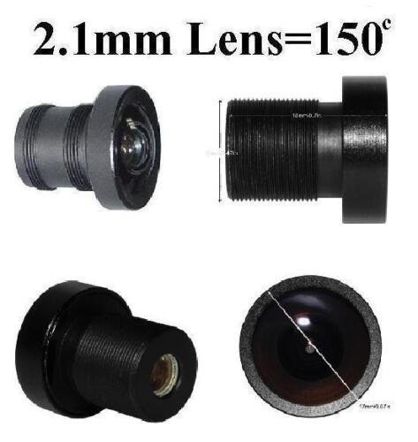 Used for CCTV Cameras Set of 4 1.8-2.8mm Degrees Monofocal Fixed Iris type Lens