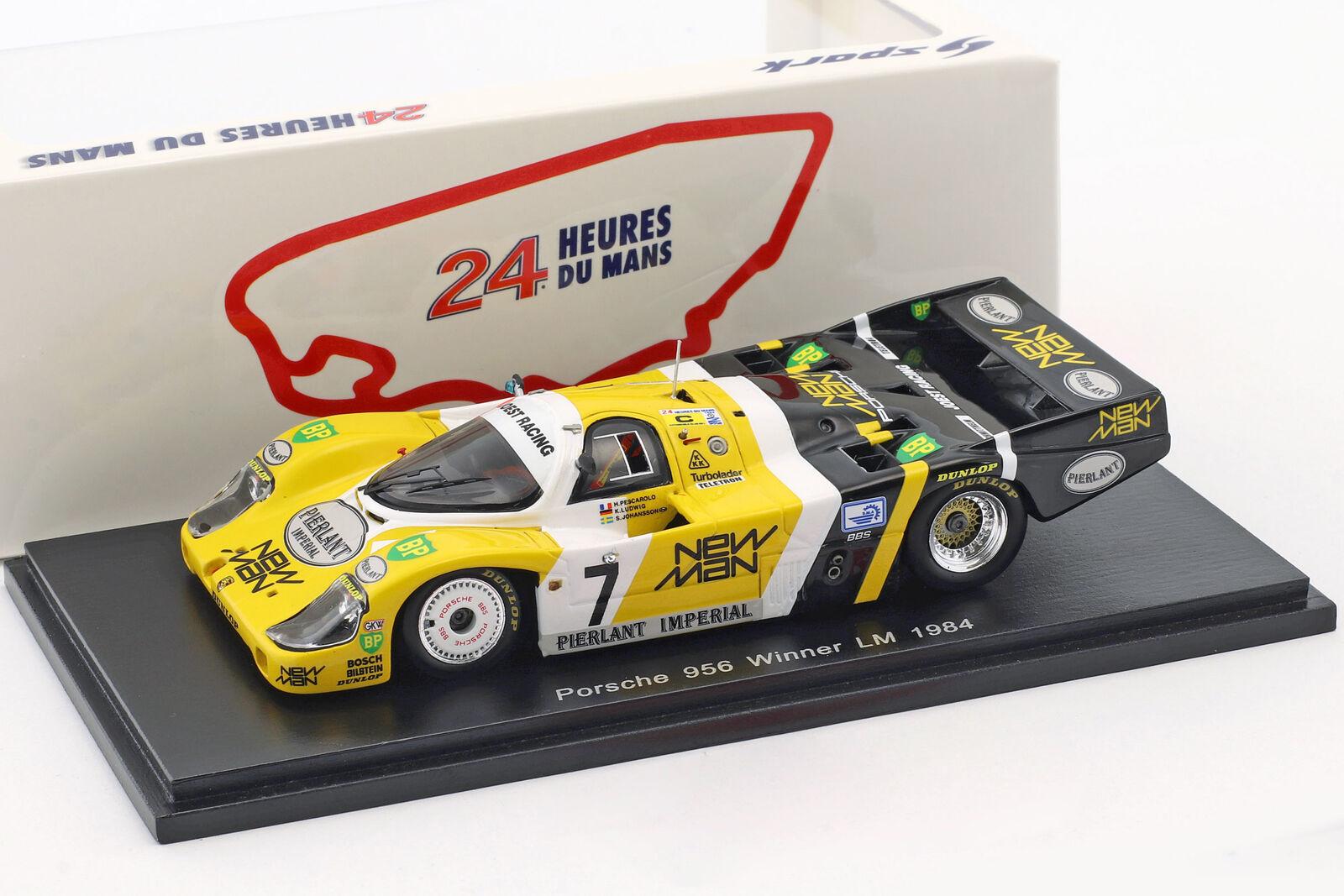 Porsche 956B  7 gagnant 24h LeMans 1984 Pescarolo, Ludwig 1:43 Spark