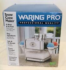 Waring Pro Snow Cone Maker Machine Professional Scm100ws Silver Brand New